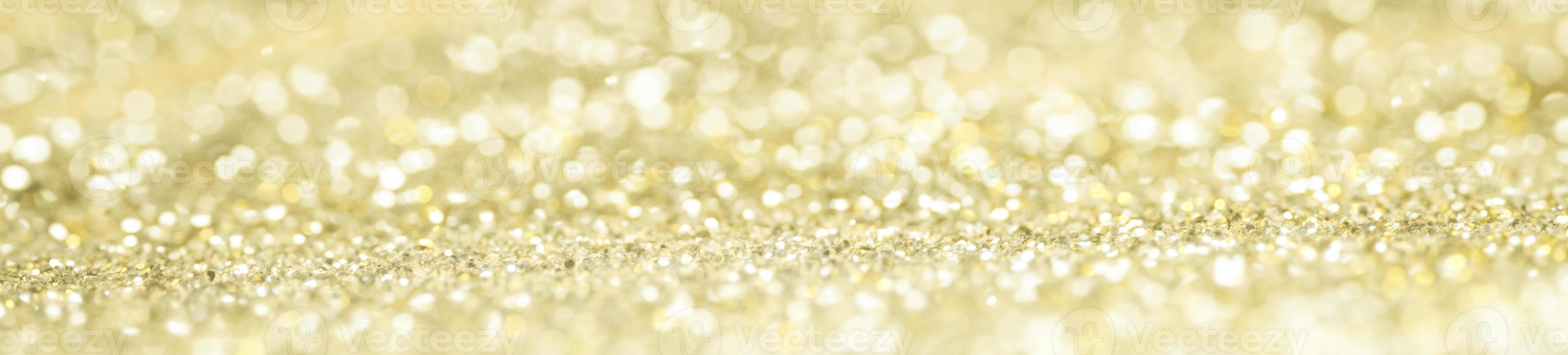 bannière de bokeh de paillettes d'or photo