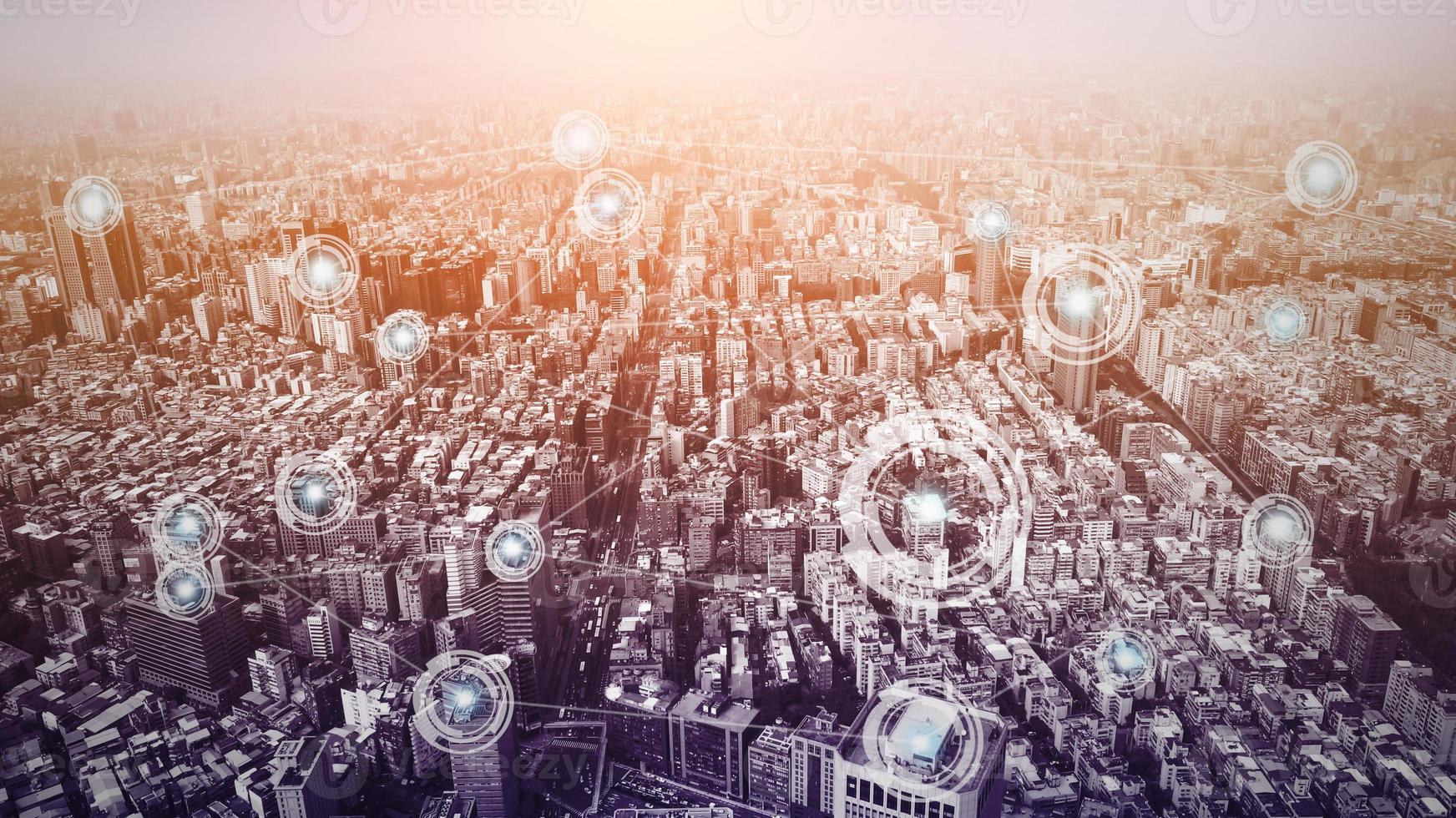 concept de connexion en ville photo