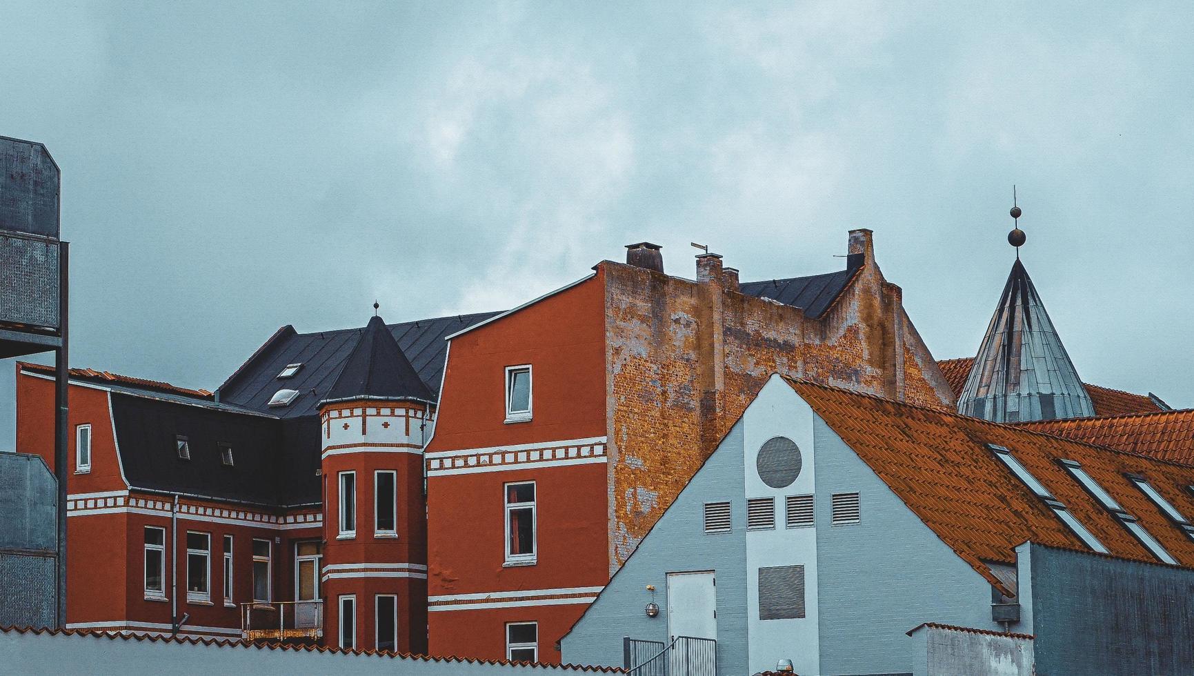 maisons traditionnelles de la vieille ville de silkeborg photo