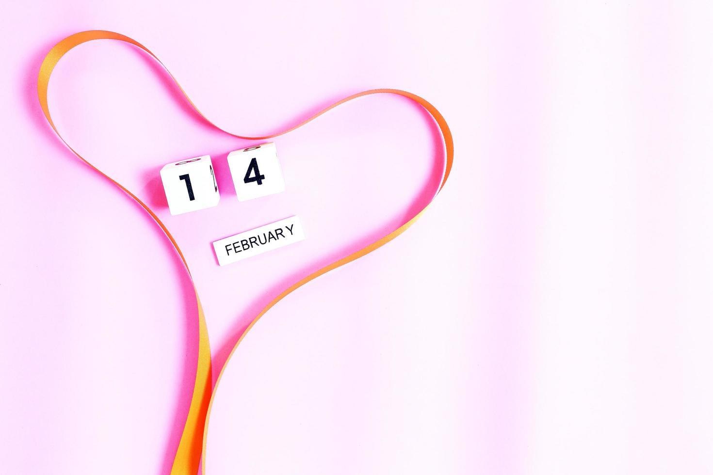 ruban coeur et 14 février photo