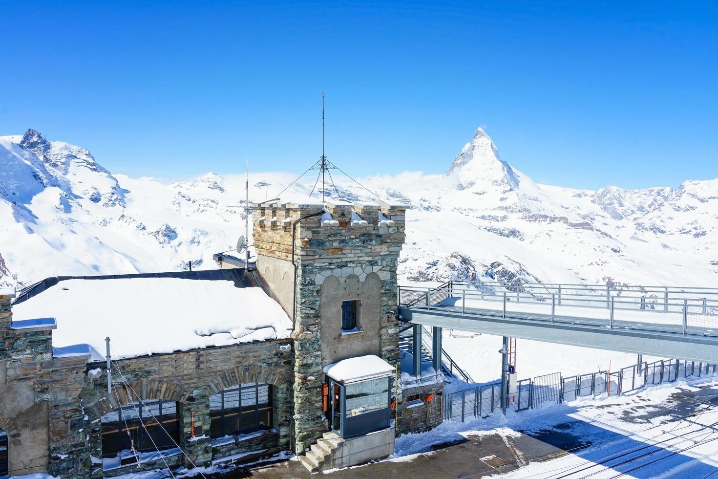l'observatoire du sommet du Gornergrat, suisse, 2018 photo
