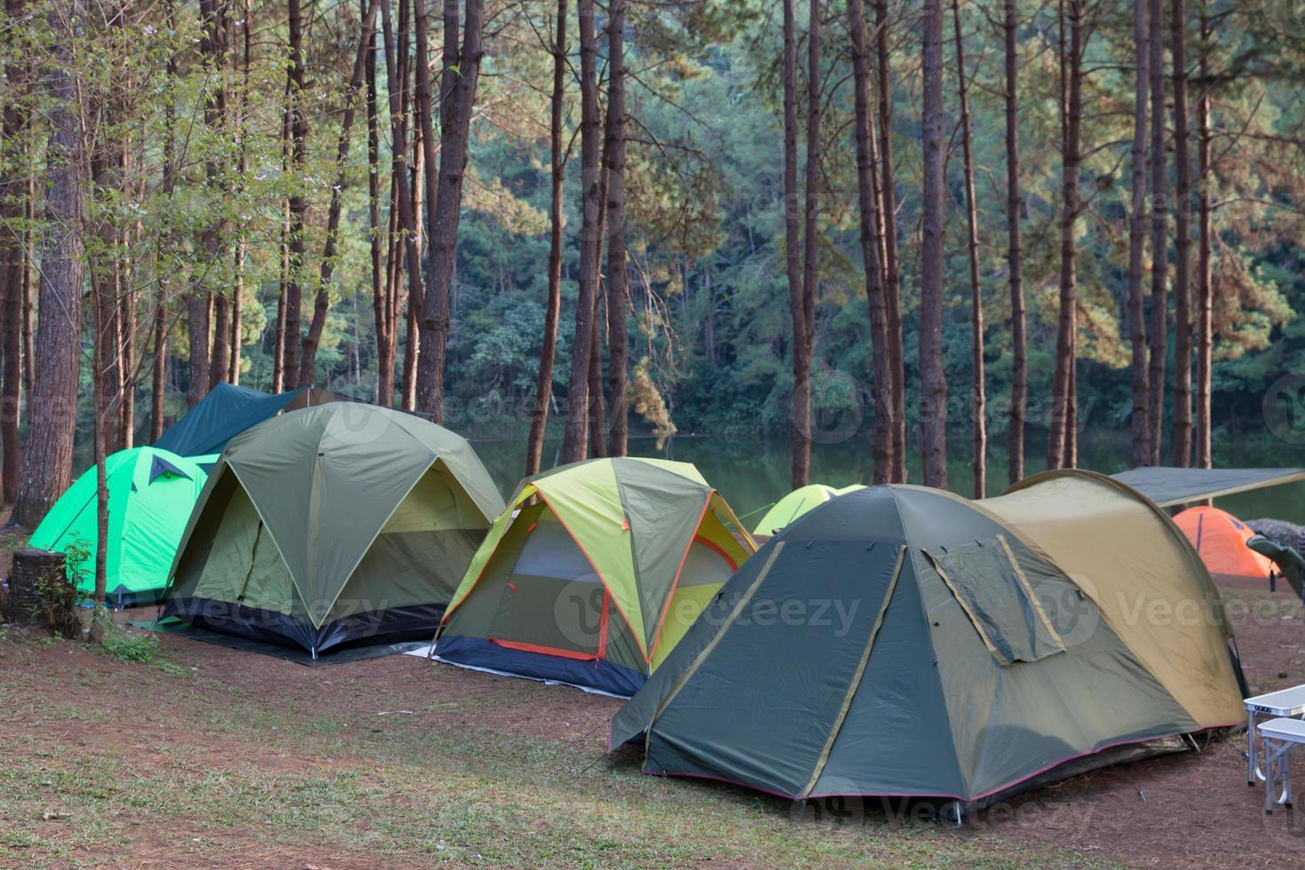 tentes au camping photo