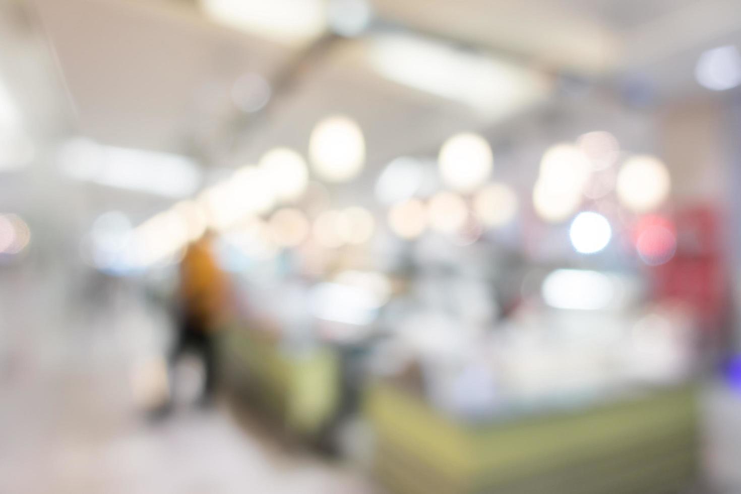 fond de centre commercial flou abstrait photo
