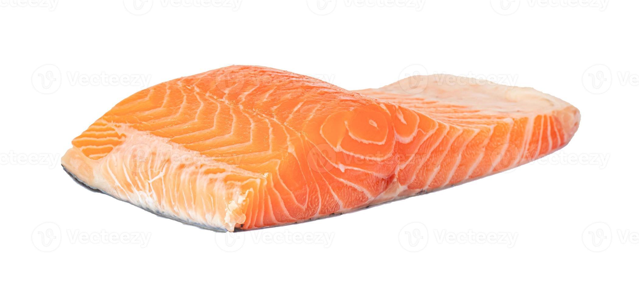 filet de saumon sur fond blanc photo