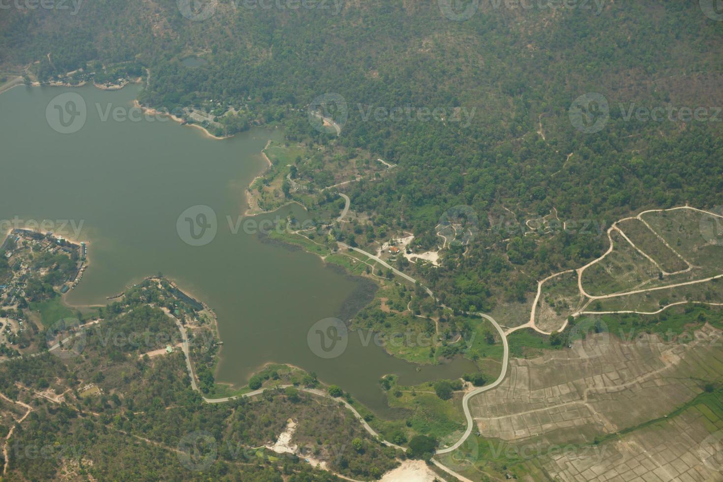 vue aérienne d'un barrage photo