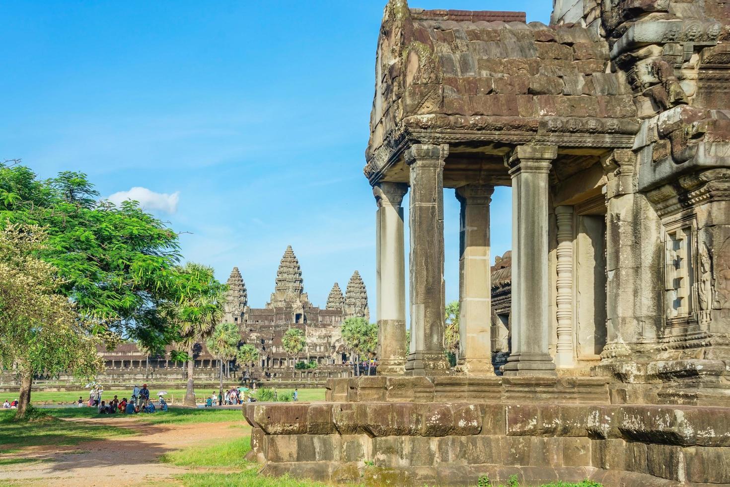 Les gens au temple d'Angkor Wat, Siem Reap, Cambodge photo