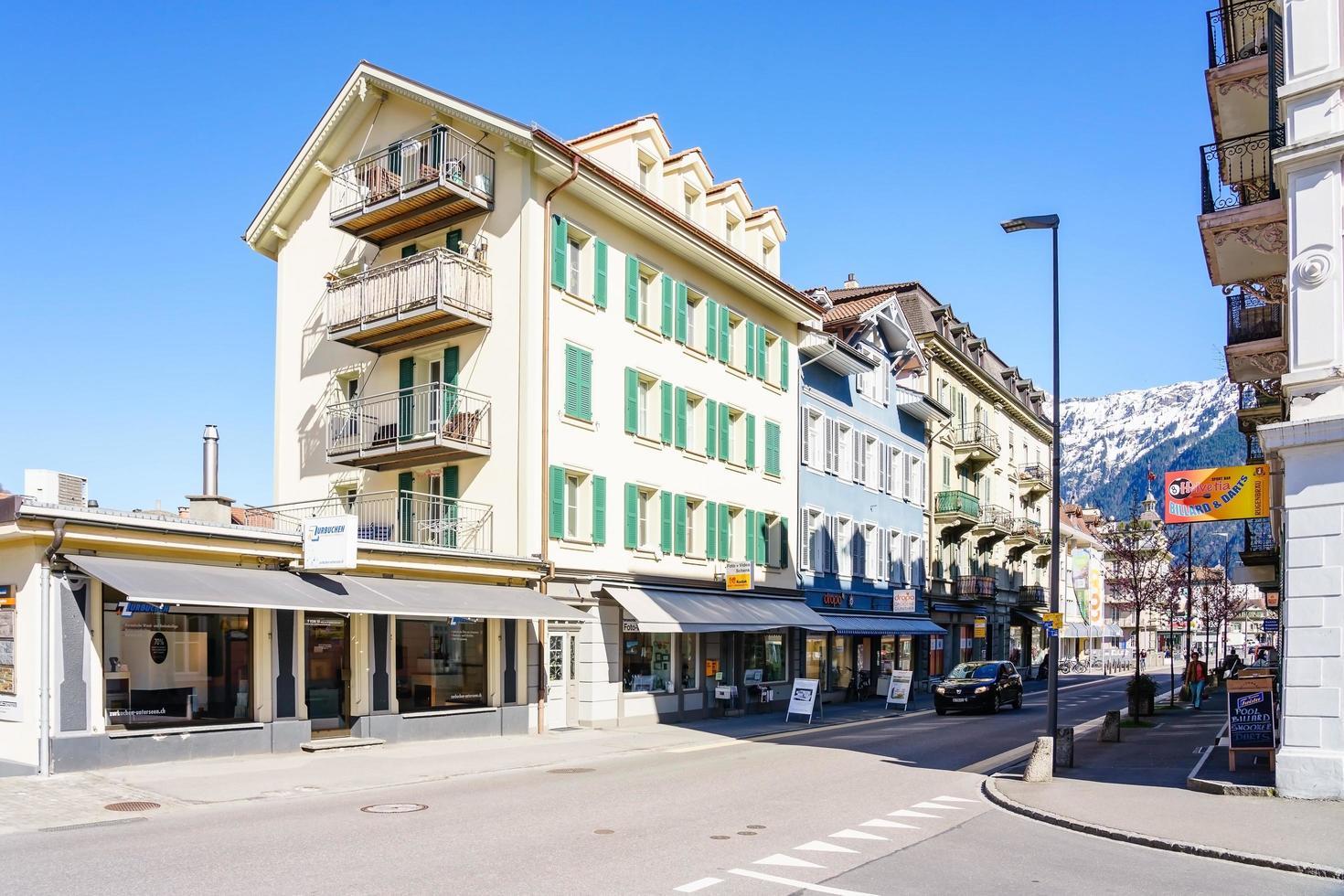 Vieille ville d'Interlaken, Suisse, 2018 photo