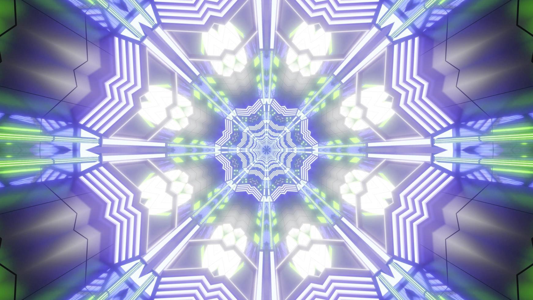 Illustration de conception de fleur kaléidoscope 3d coloré pour le fond ou la texture photo