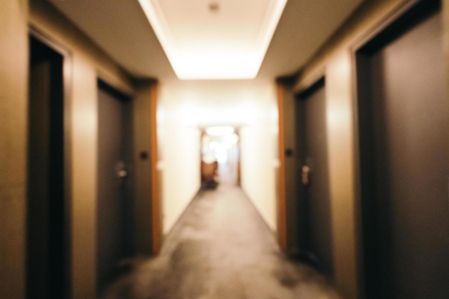Intérieur de l'hôtel abstrait et défocalisé photo