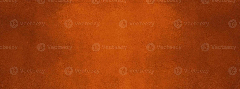 bannière de mur de texture de ciment orange et foncé brûlé photo