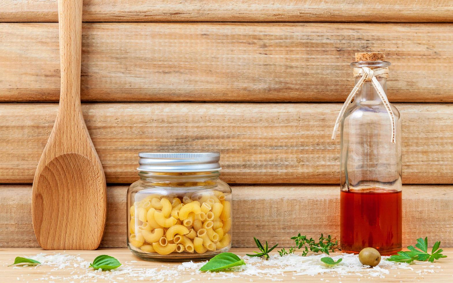 pâtes et huile photo