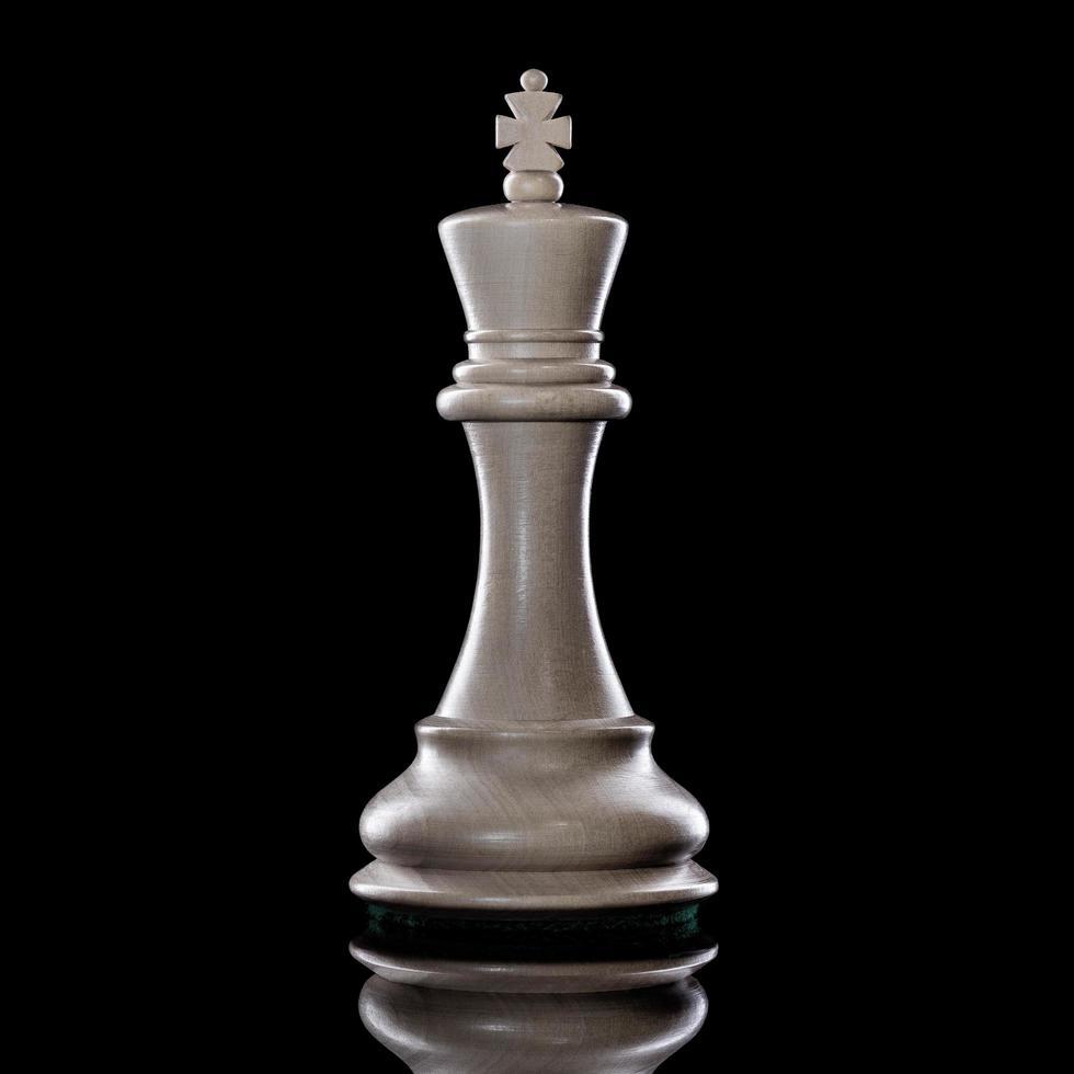 pièce d'échecs sur fond noir photo