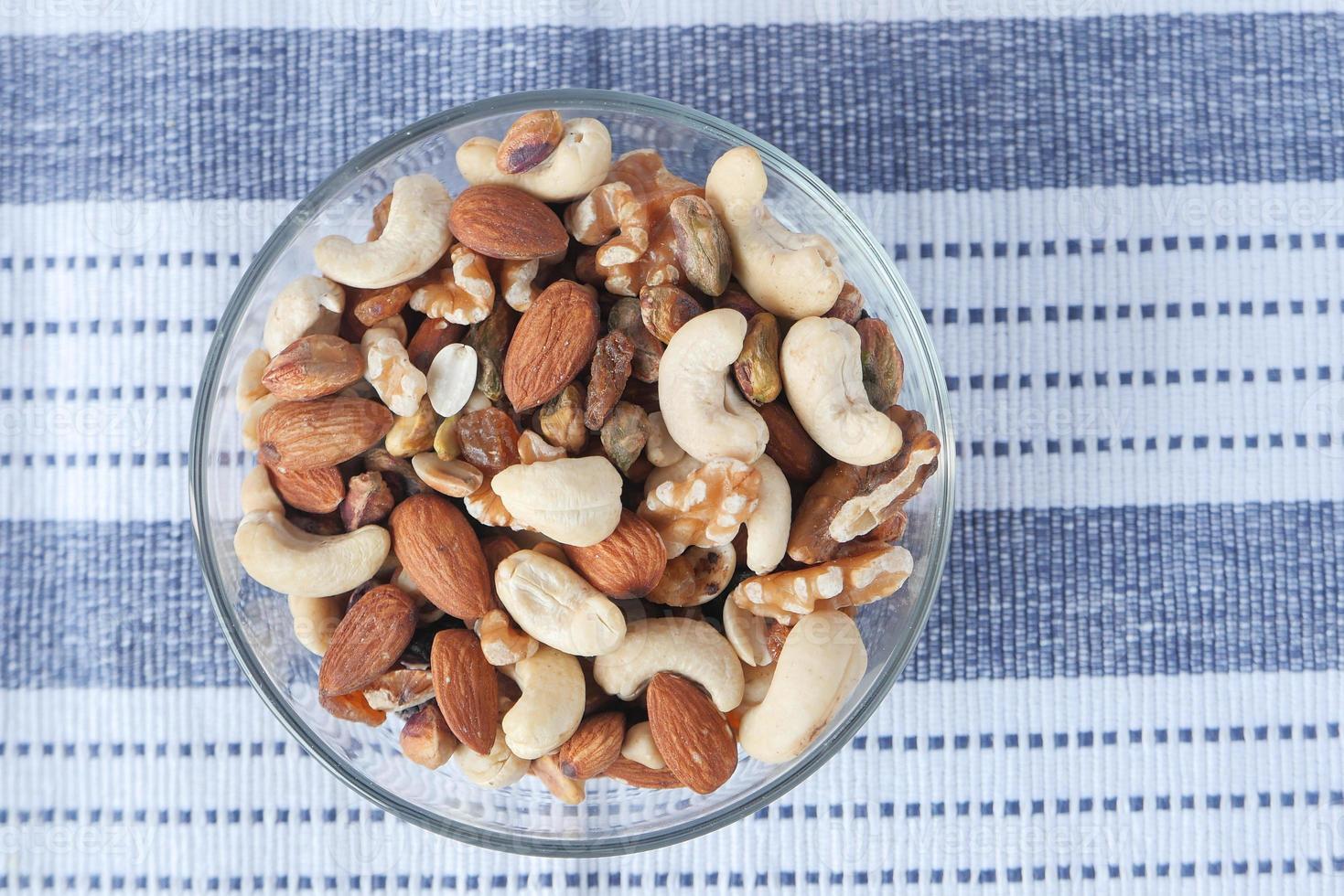 gros plan de noix mélangées photo
