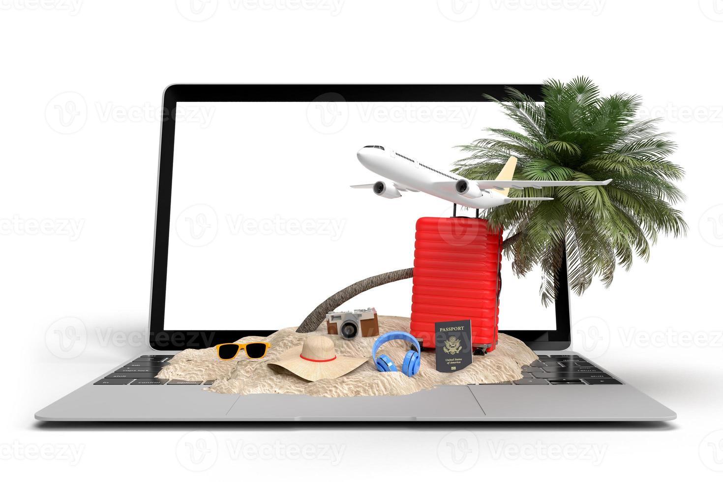 maquette de voyage 3d de vacances d'été photo