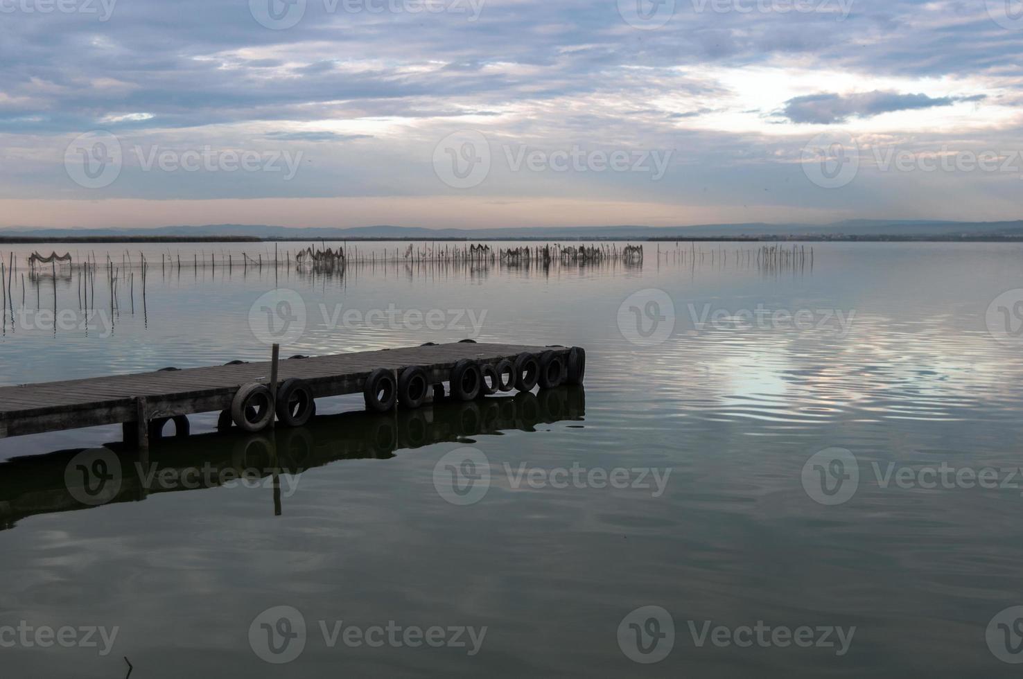 Estuaire de l'Albufera à Valence, Espagne photo