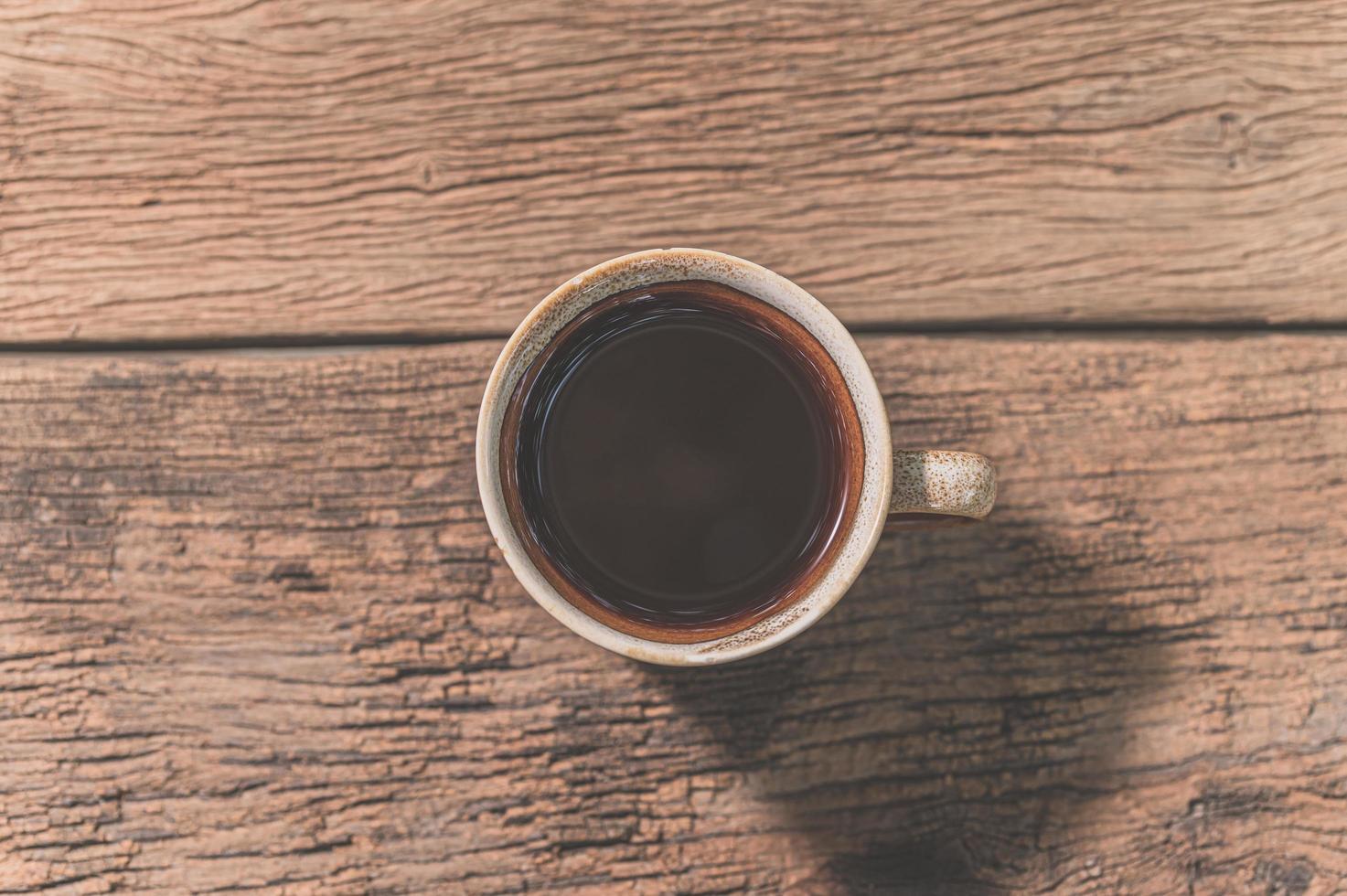 tasse à café sur la table photo