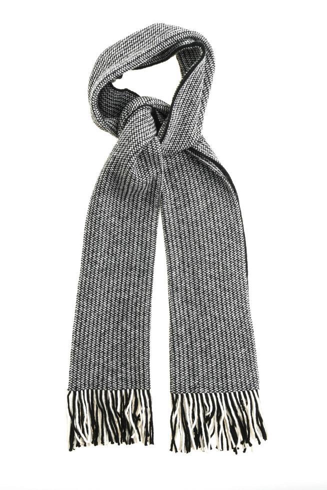 écharpe grise sur fond blanc photo