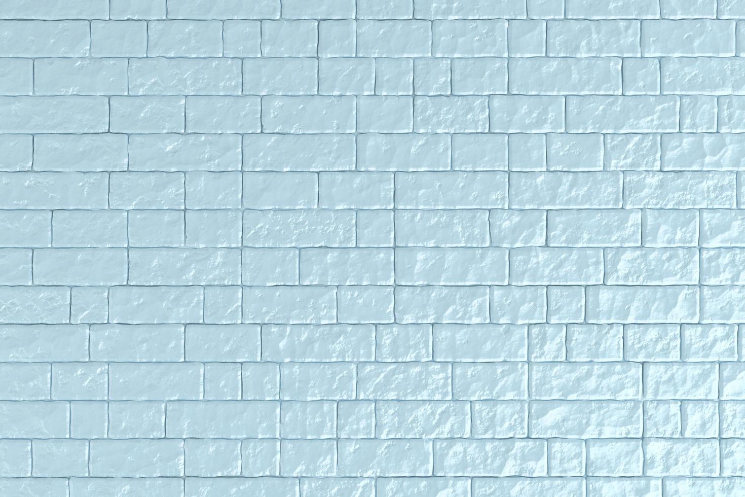 3d illustration d'un mur de briques bleues photo