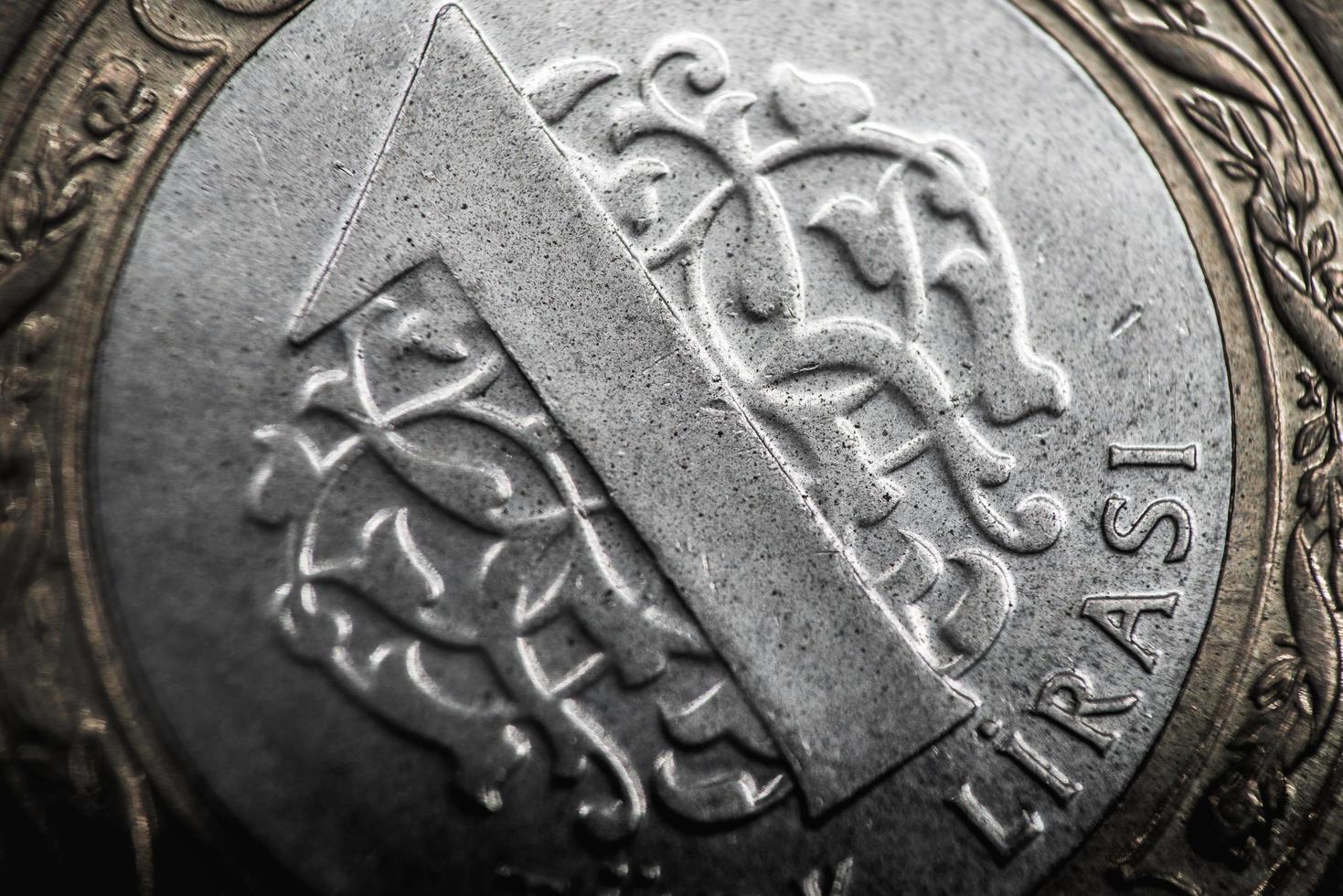 Turquie 2016 - pièce de monnaie lire turque close-up photo