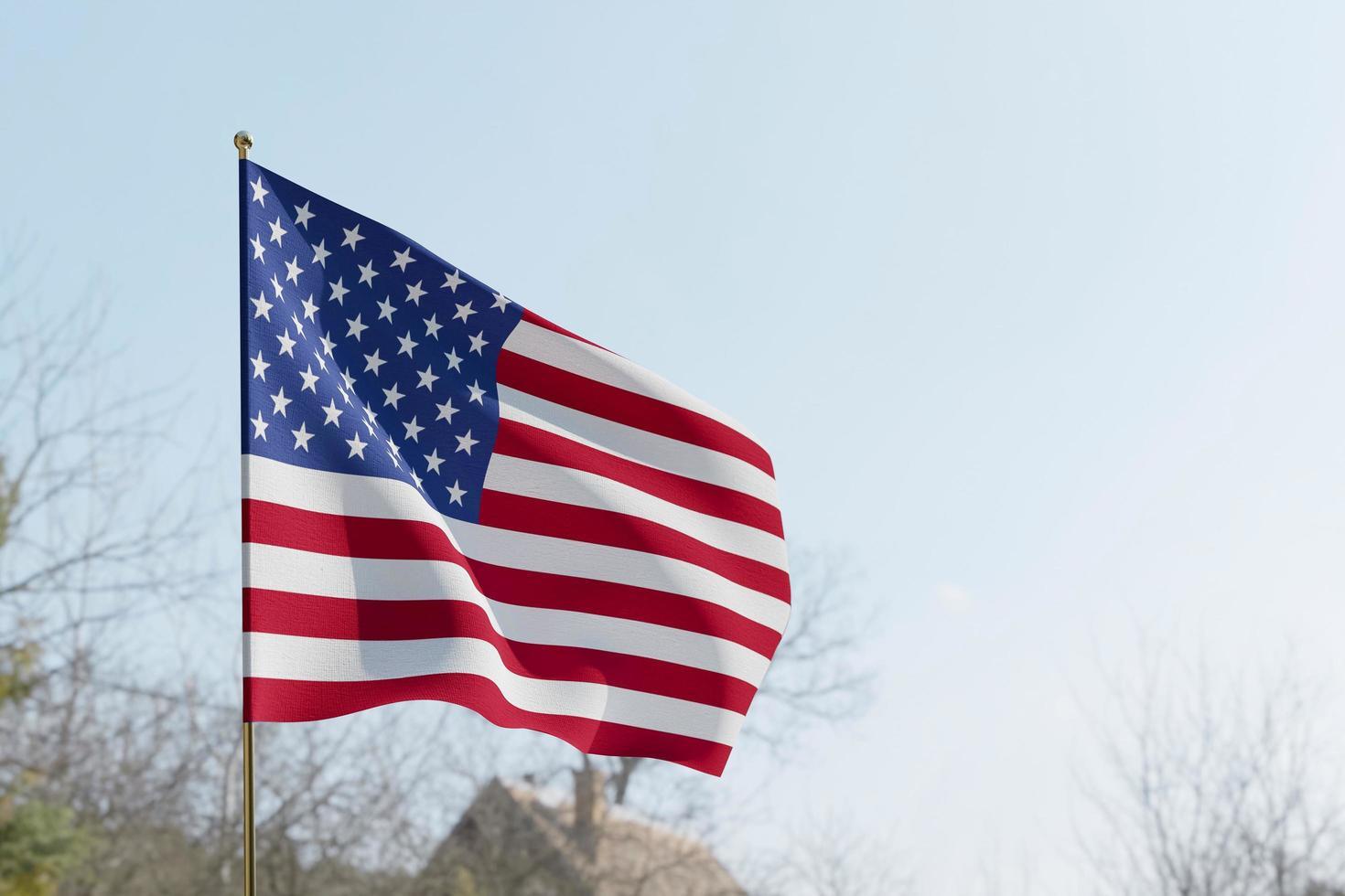 drapeau américain pendant la journée photo