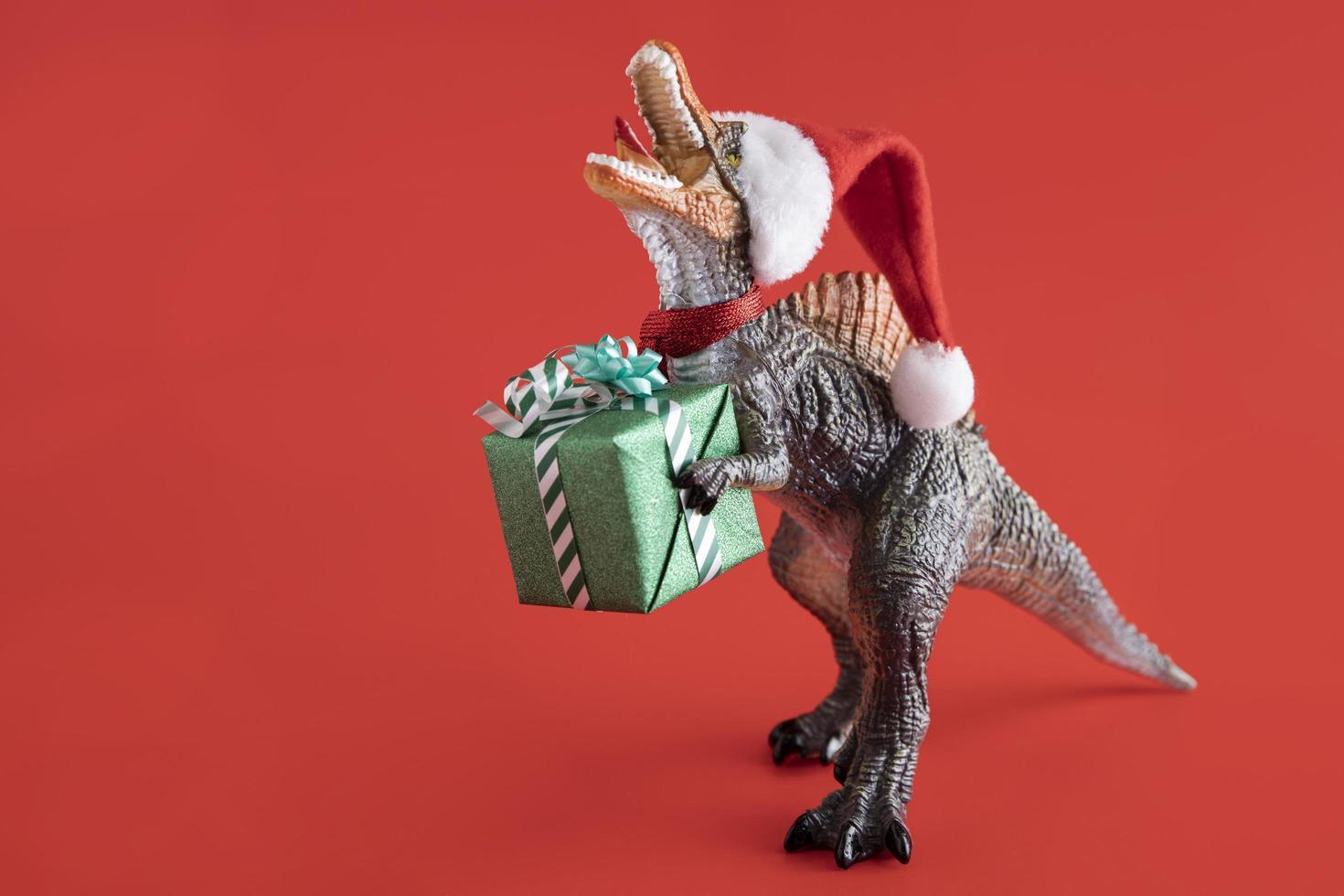 concept de t-rex de noël photo