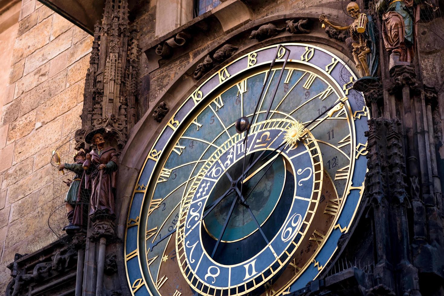 l'horloge astronomique de prague photo