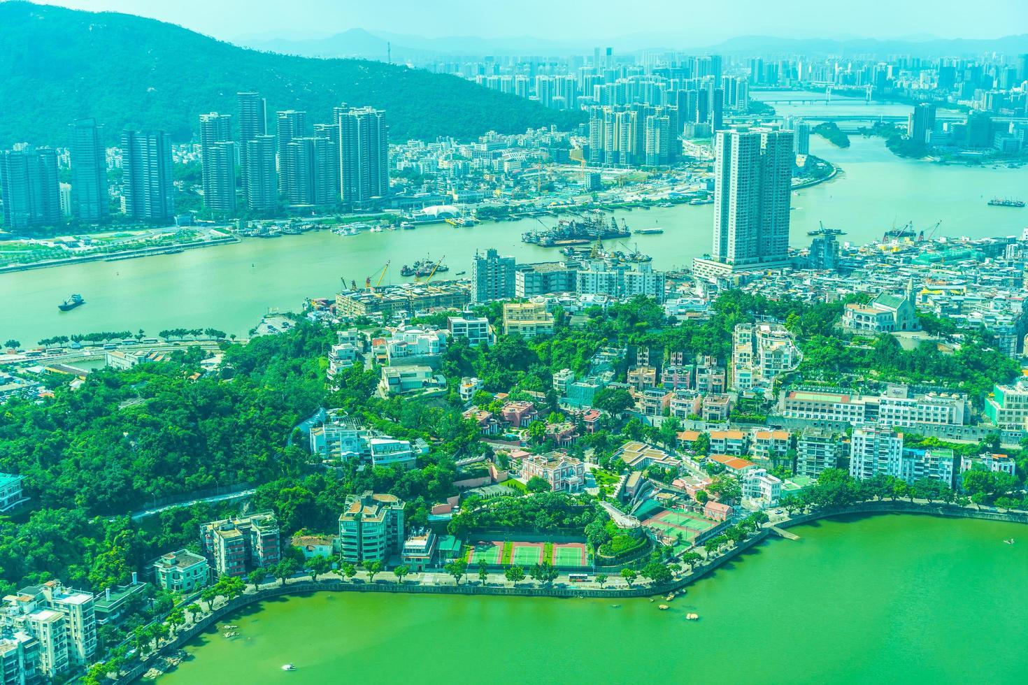 Vue aérienne de la ville de Macao, Chine photo