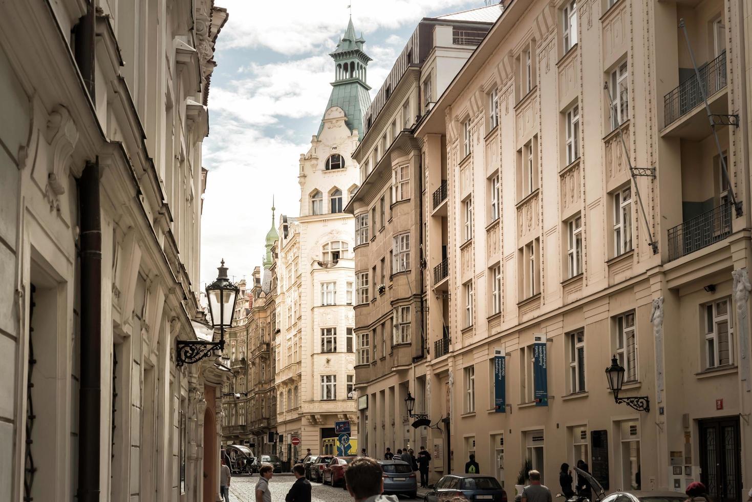 Prague, République tchèque 2016 - rue maiselova au quartier juif photo