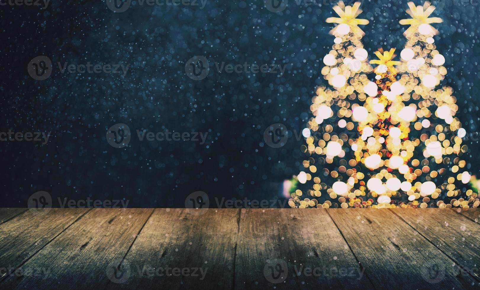 Noël arrière-plan flou, bokeh avec un ton vintage photo