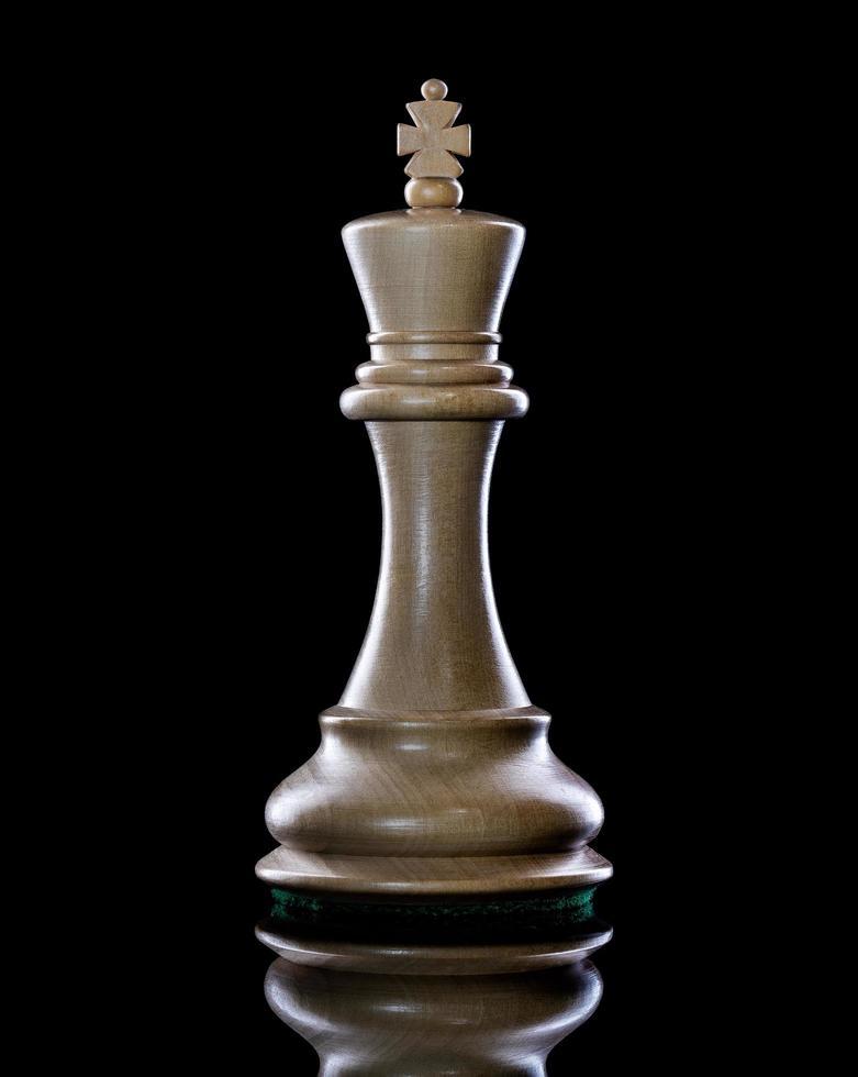 pièce d'échecs du roi blanc photo