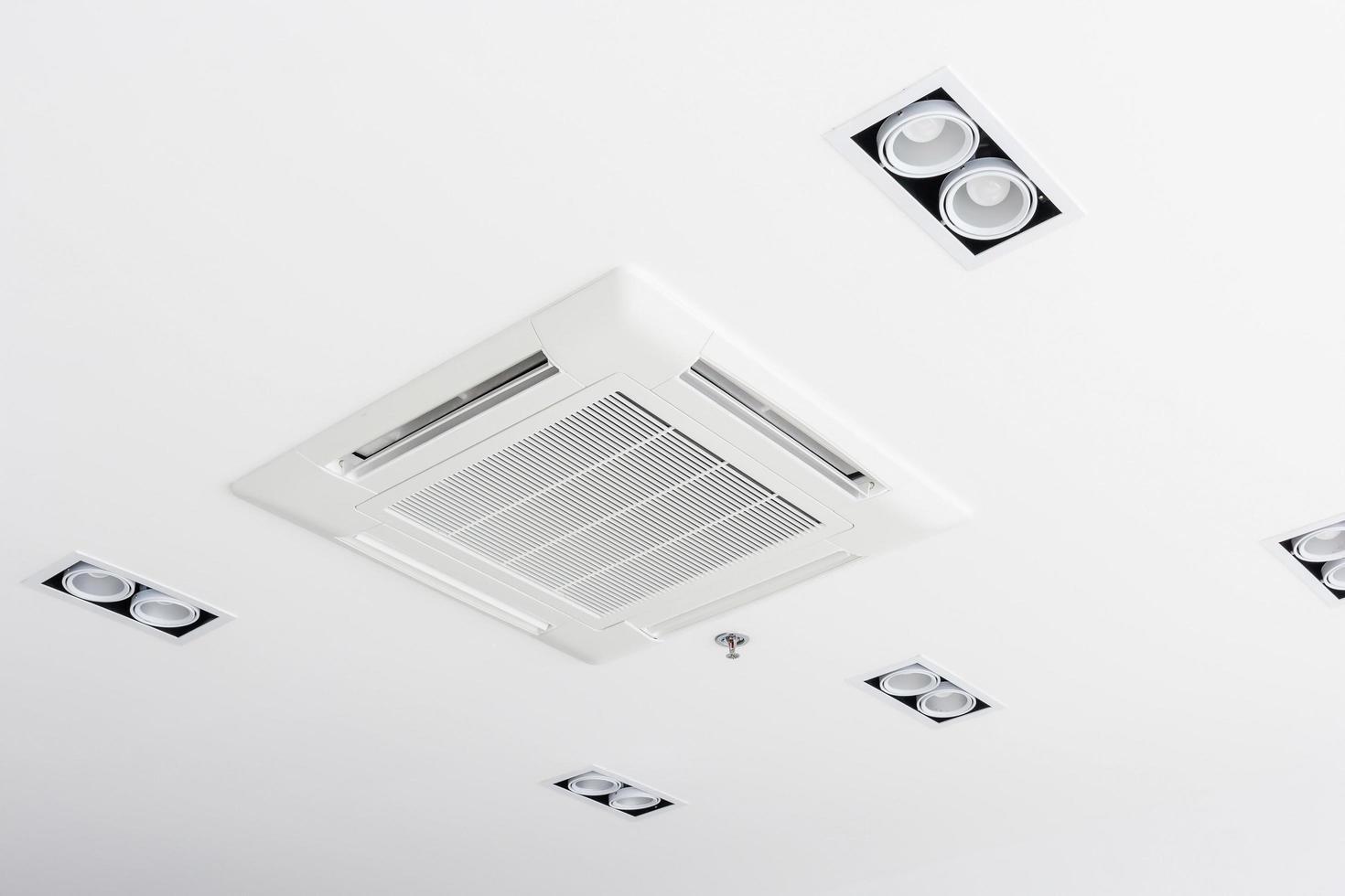 climatiseur de type cassette monté au plafond photo