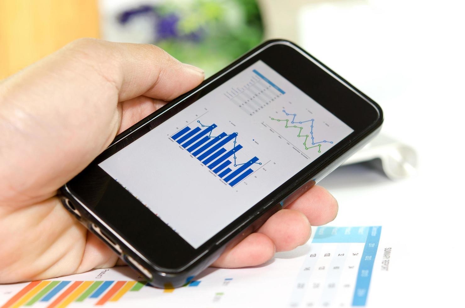 graphiques sur un smartphone photo