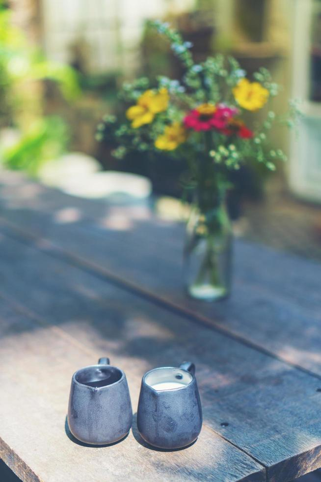 lait et sirop aux fleurs photo