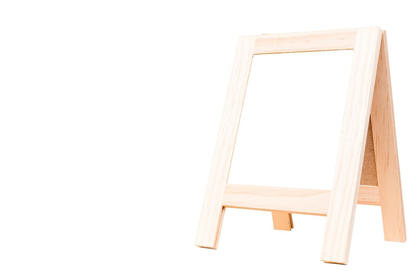 tableau vide isolé sur fond blanc photo