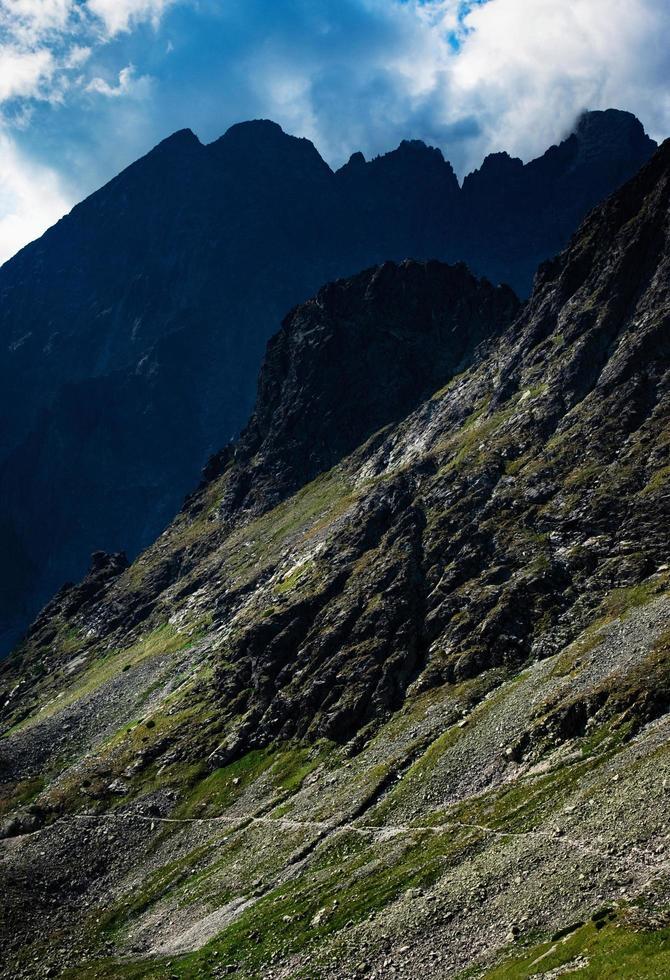 ciel et silhouette de montagne photo