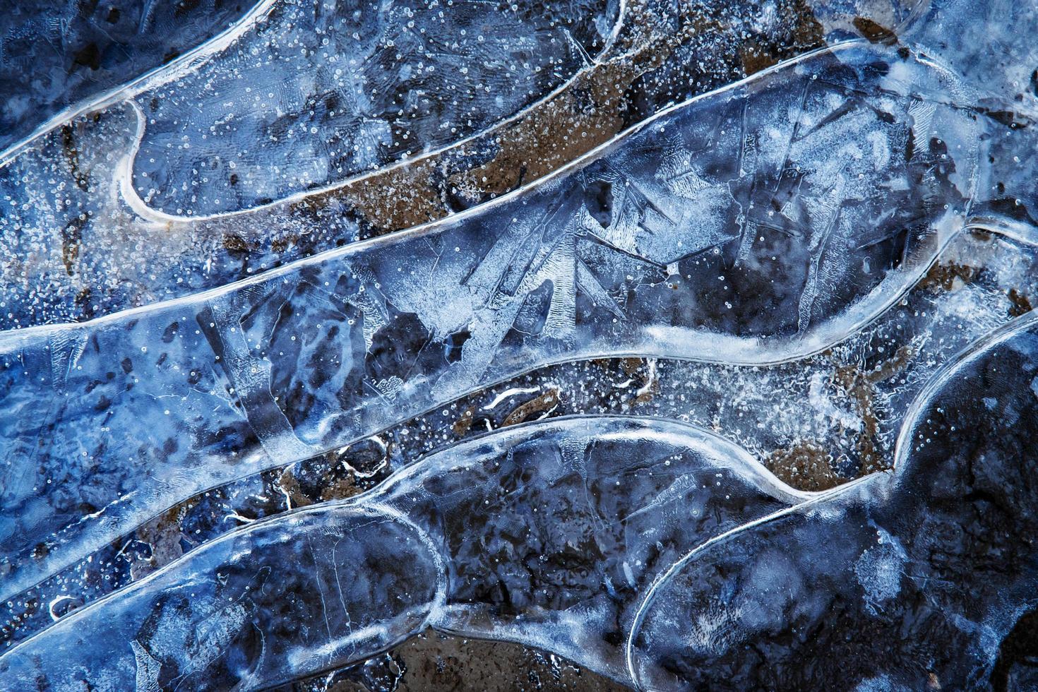 motif de l'eau gelée photo