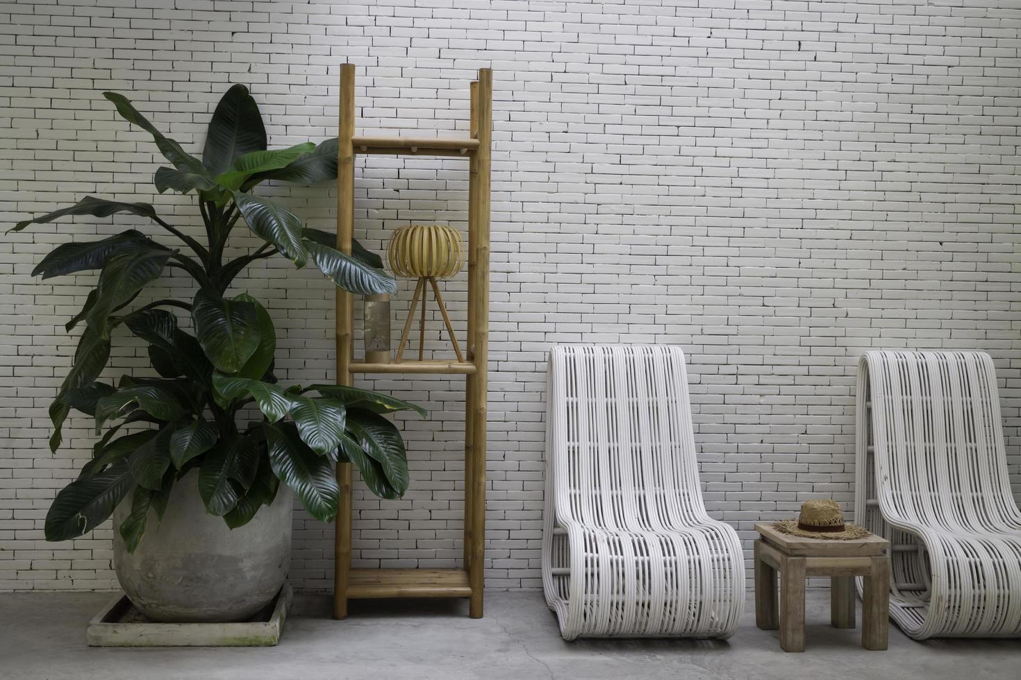 sièges de meubles de villégiature simples photo