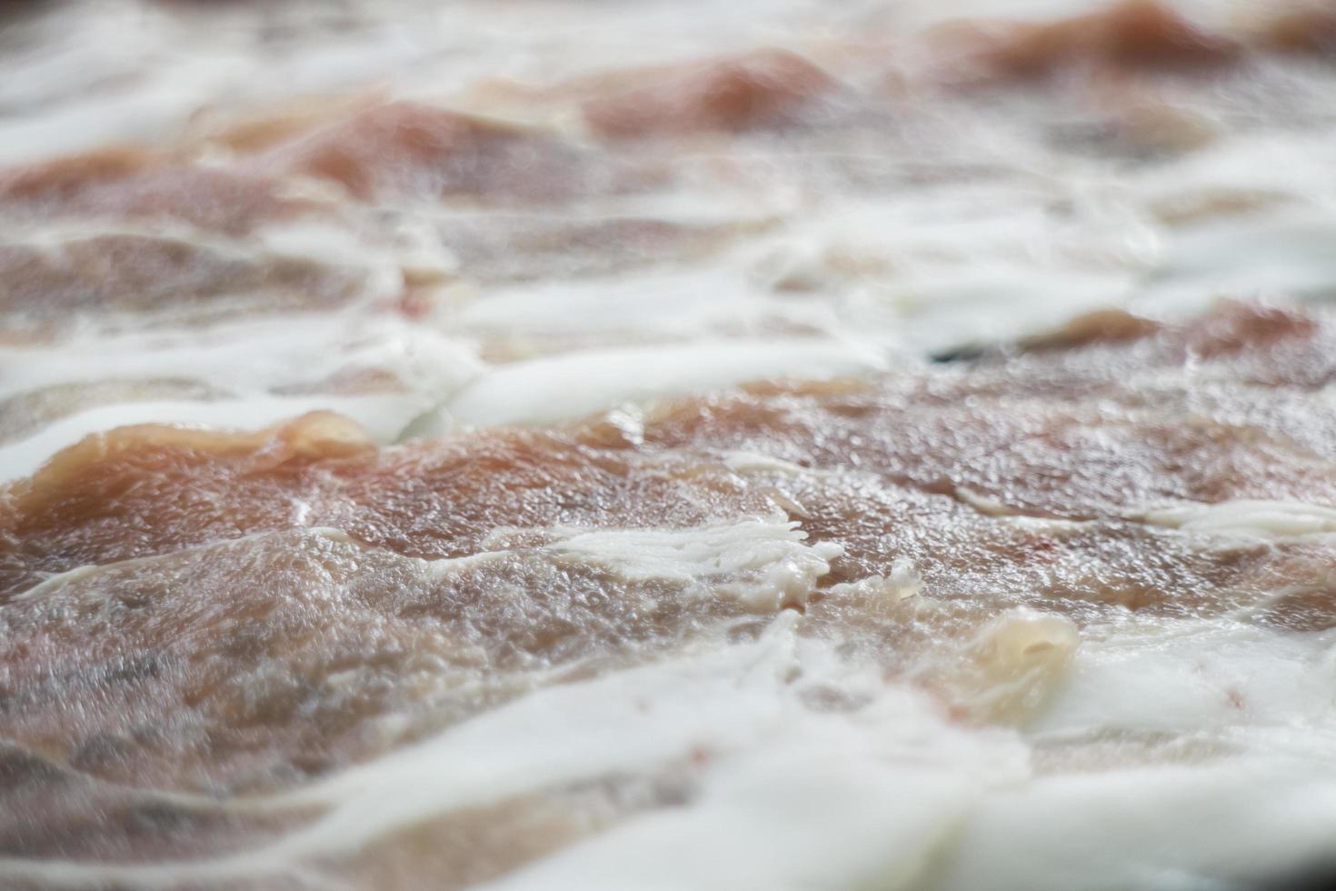 gros plan de bacon photo