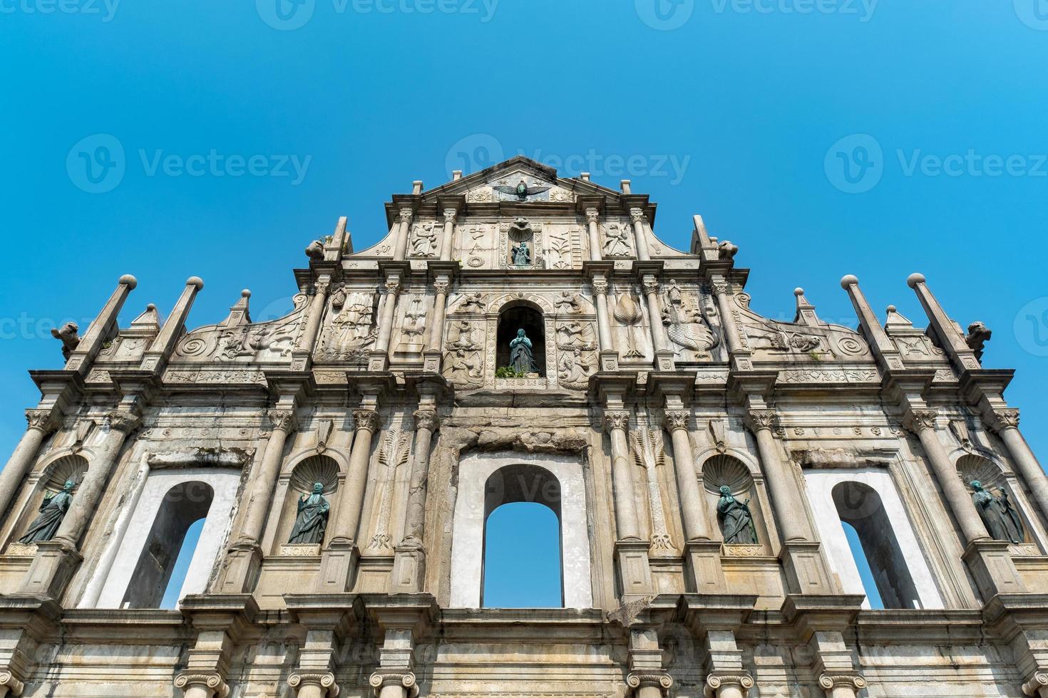 ruines de st. Paul's Church à Macao photo