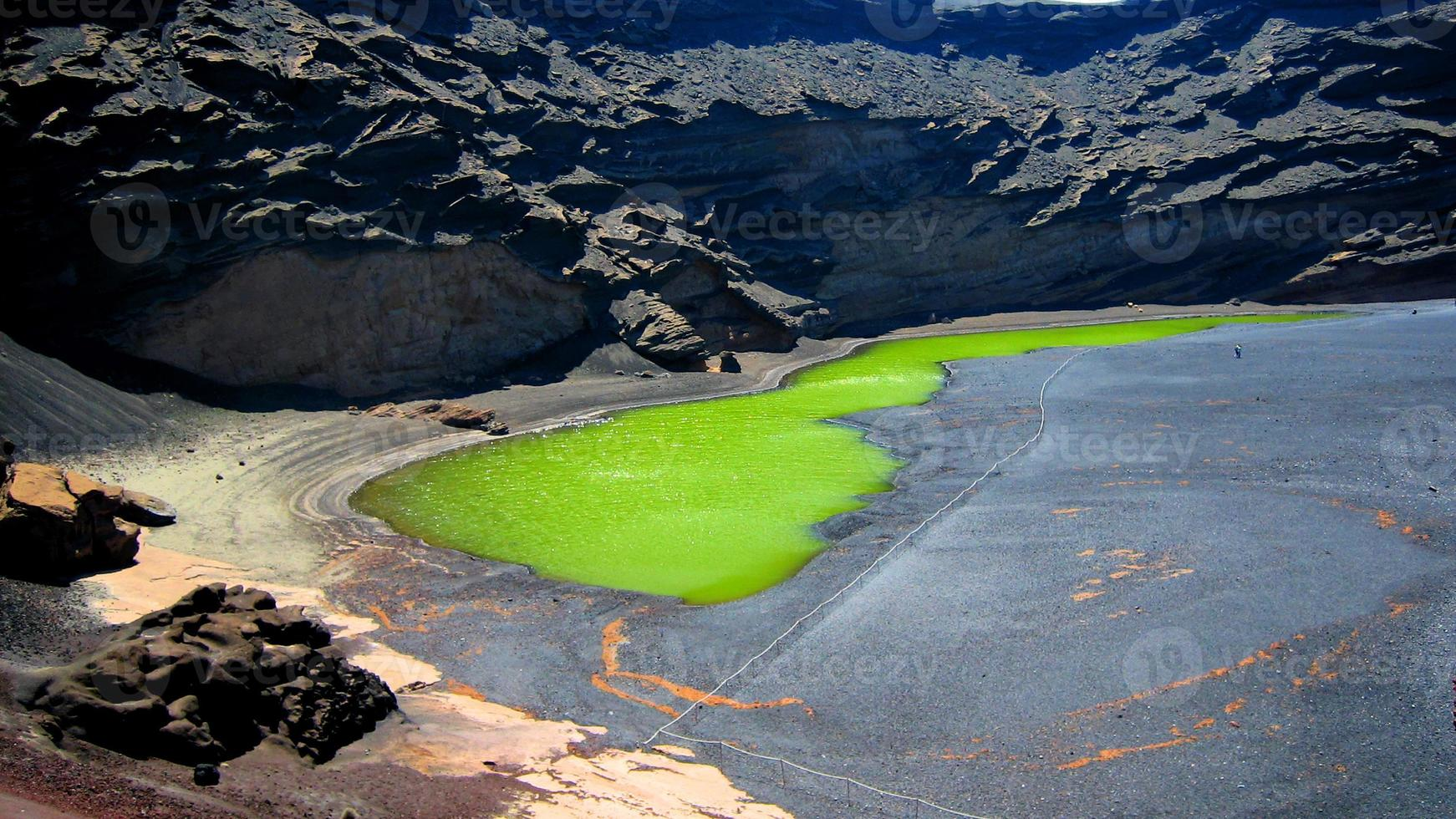 lac vert à lanzarote photo