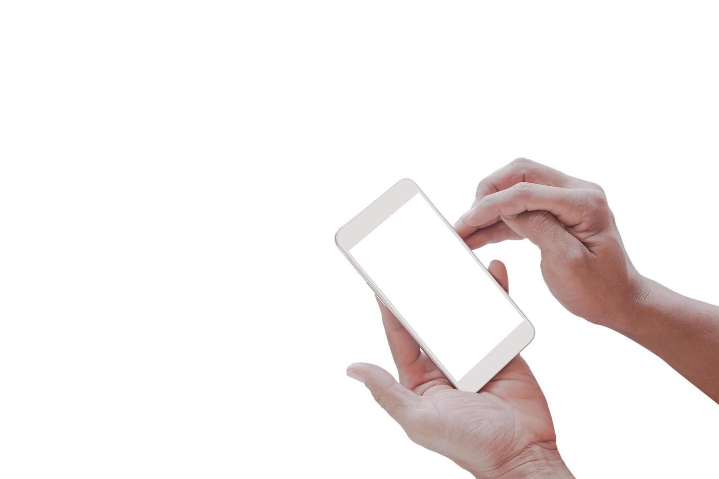 maquette d & # 39; un téléphone portable à écran blanc vierge photo