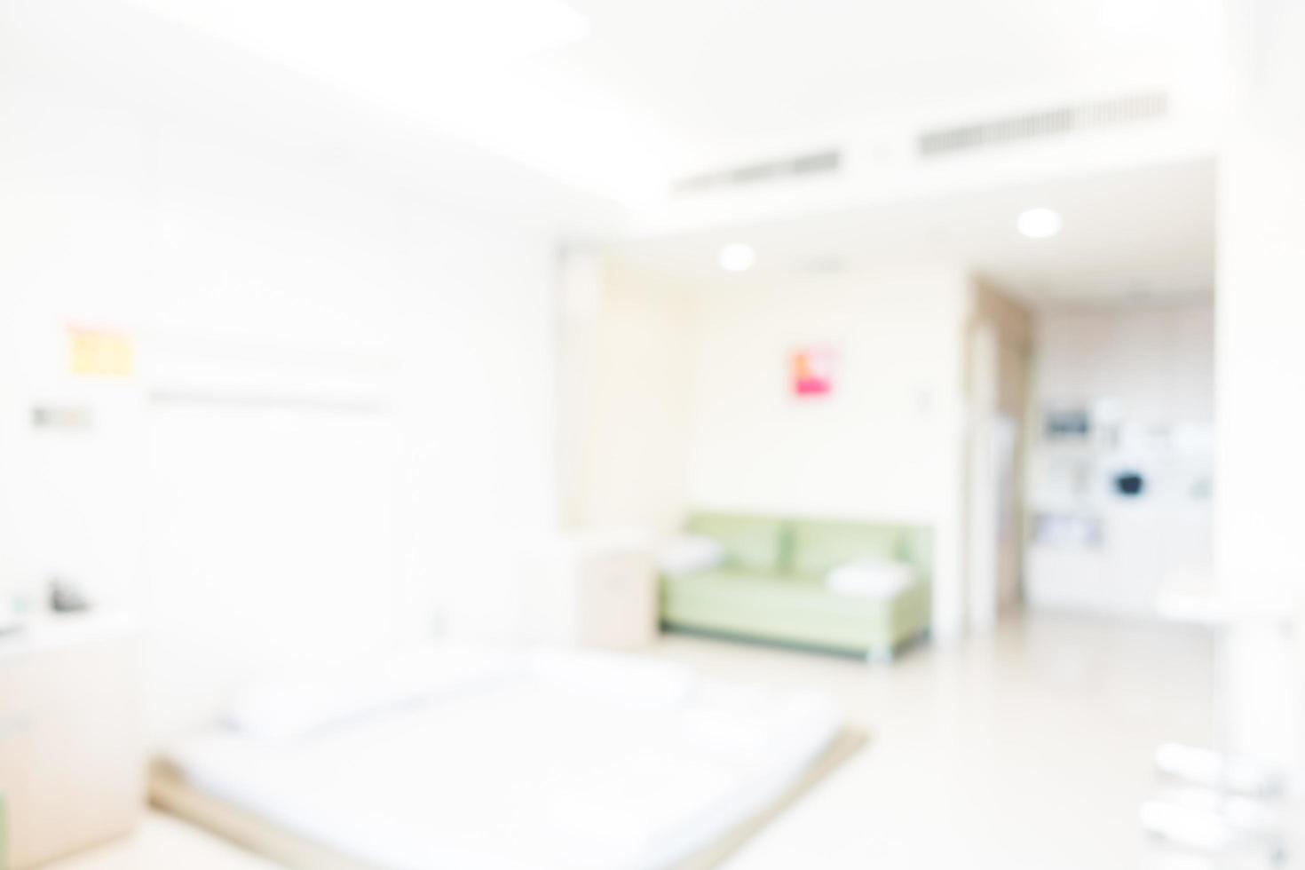 Intérieur de l'hôpital abstrait défocalisé pour le fond photo
