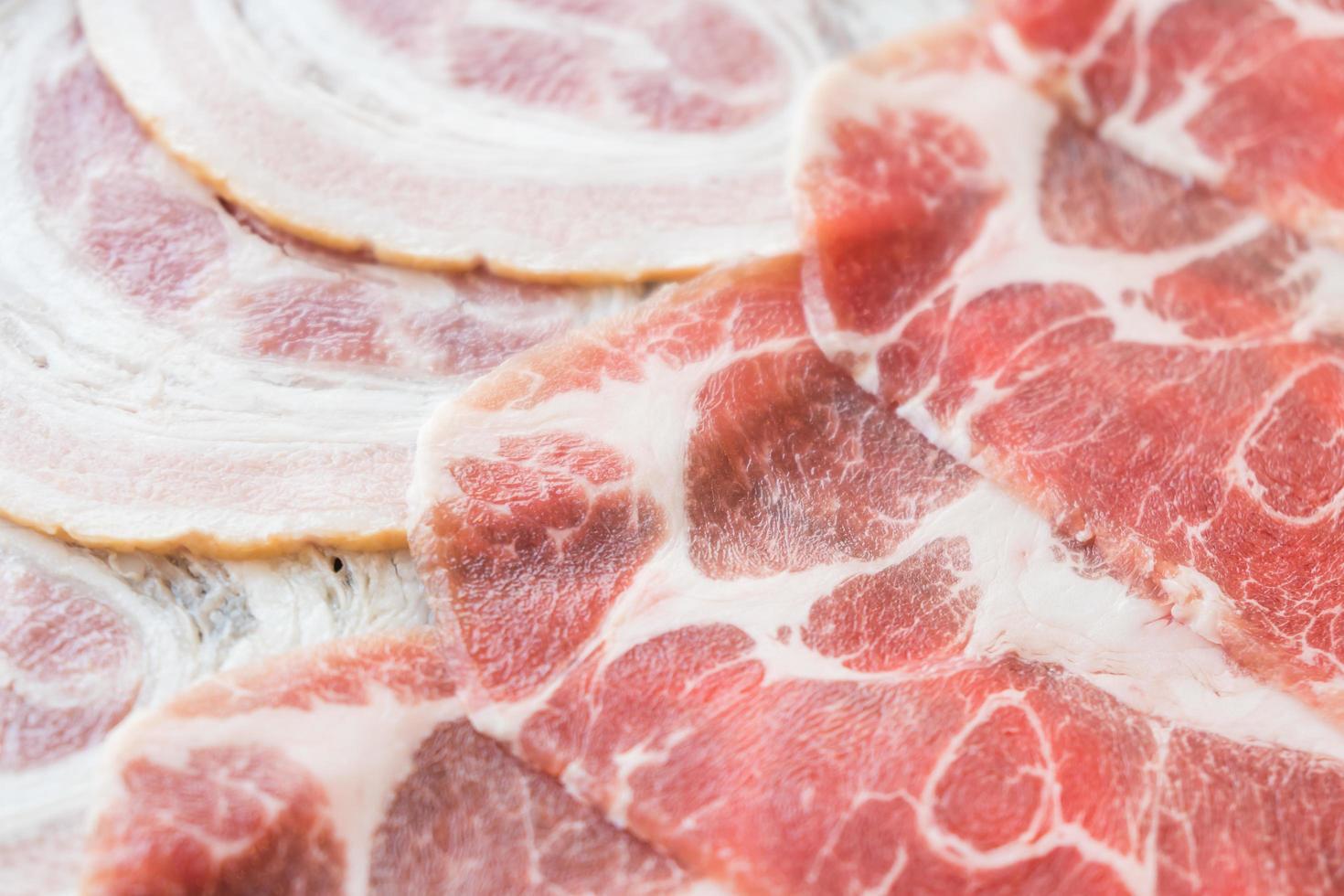 viande de porc crue photo