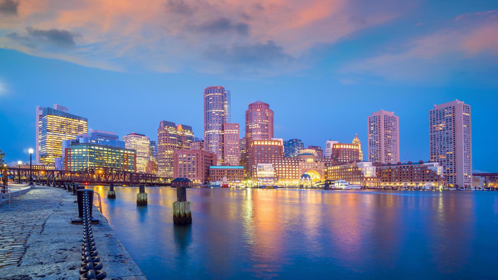 boston city centre-ville skyline usa photo