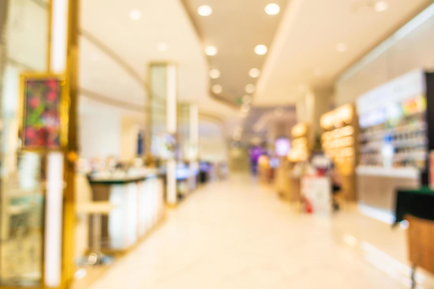 flou abstrait et défocalisation intérieur magnifique centre commercial de luxe photo