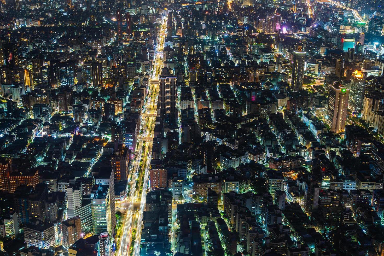 Vue de la ville de Taipei à Taiwan photo