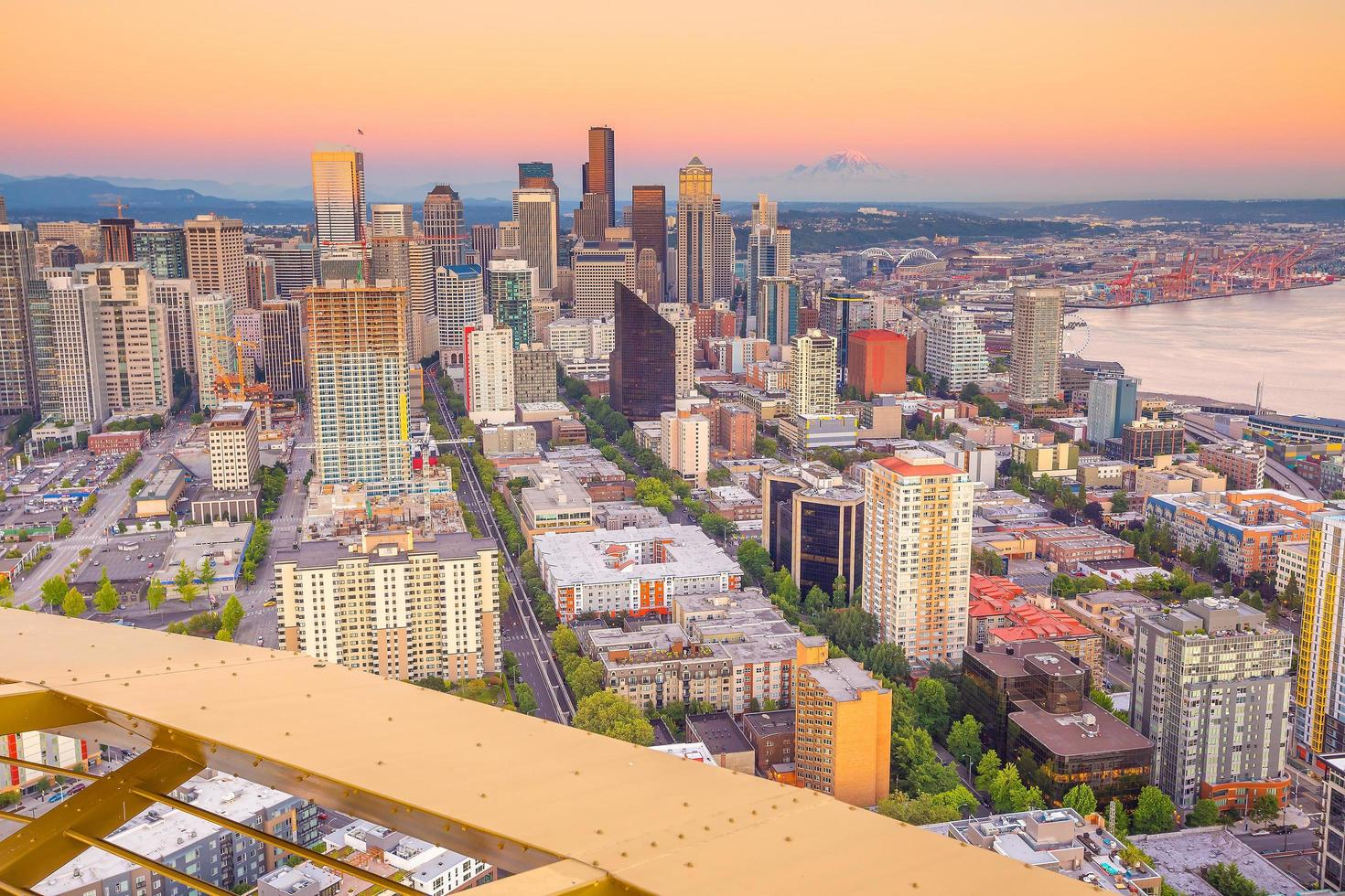 Seattle City Downtown skyline cityscape dans l'état de Washington, USA photo