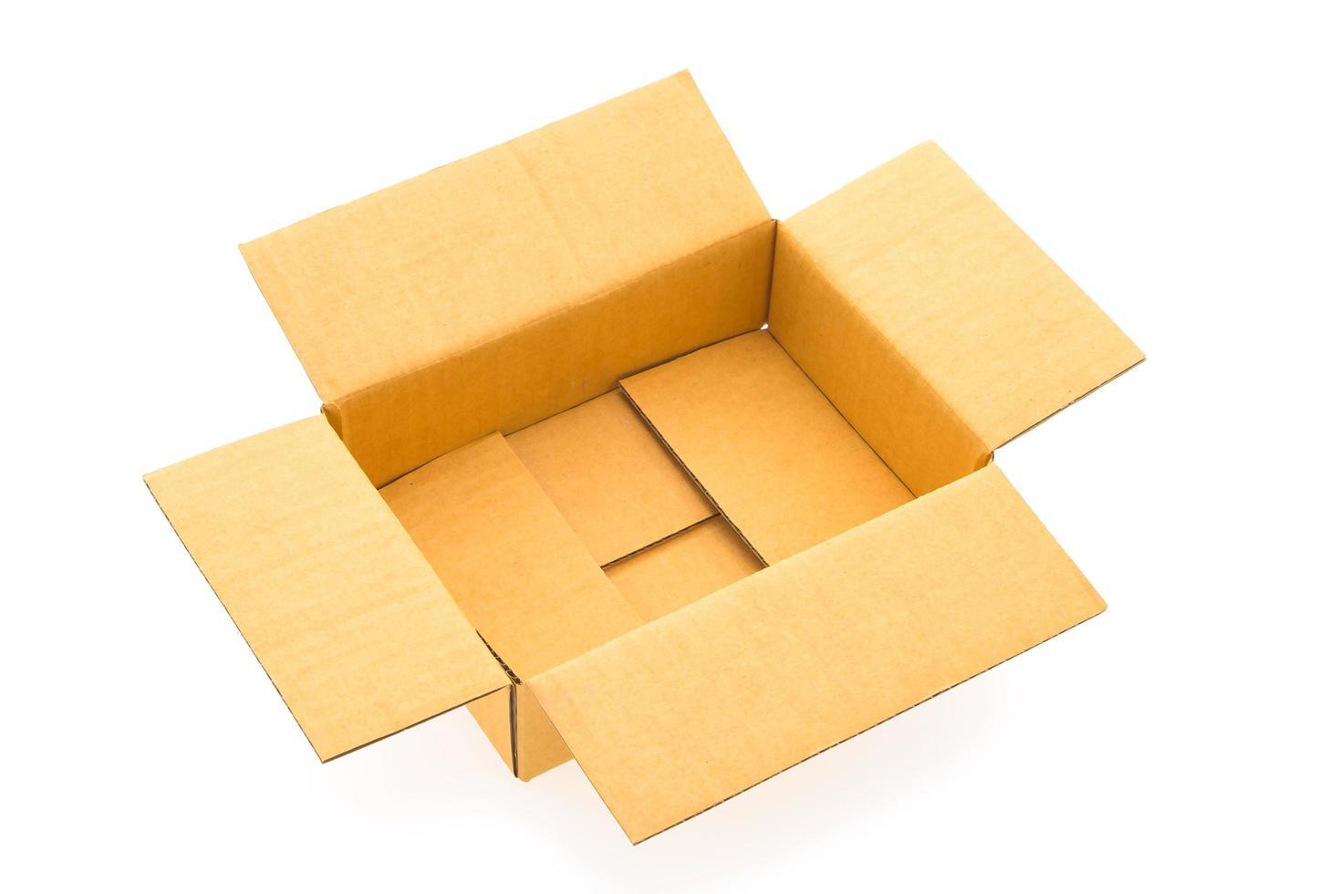 boîte de papier isolée photo