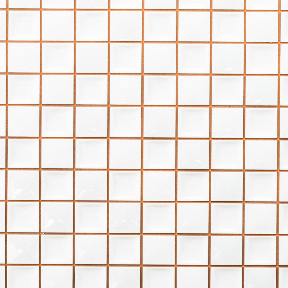 fond de textures de mur de carreaux blancs photo