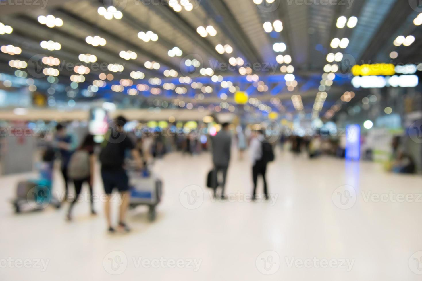 terminal d'arrière-plan flou abstrait en thaïlande photo